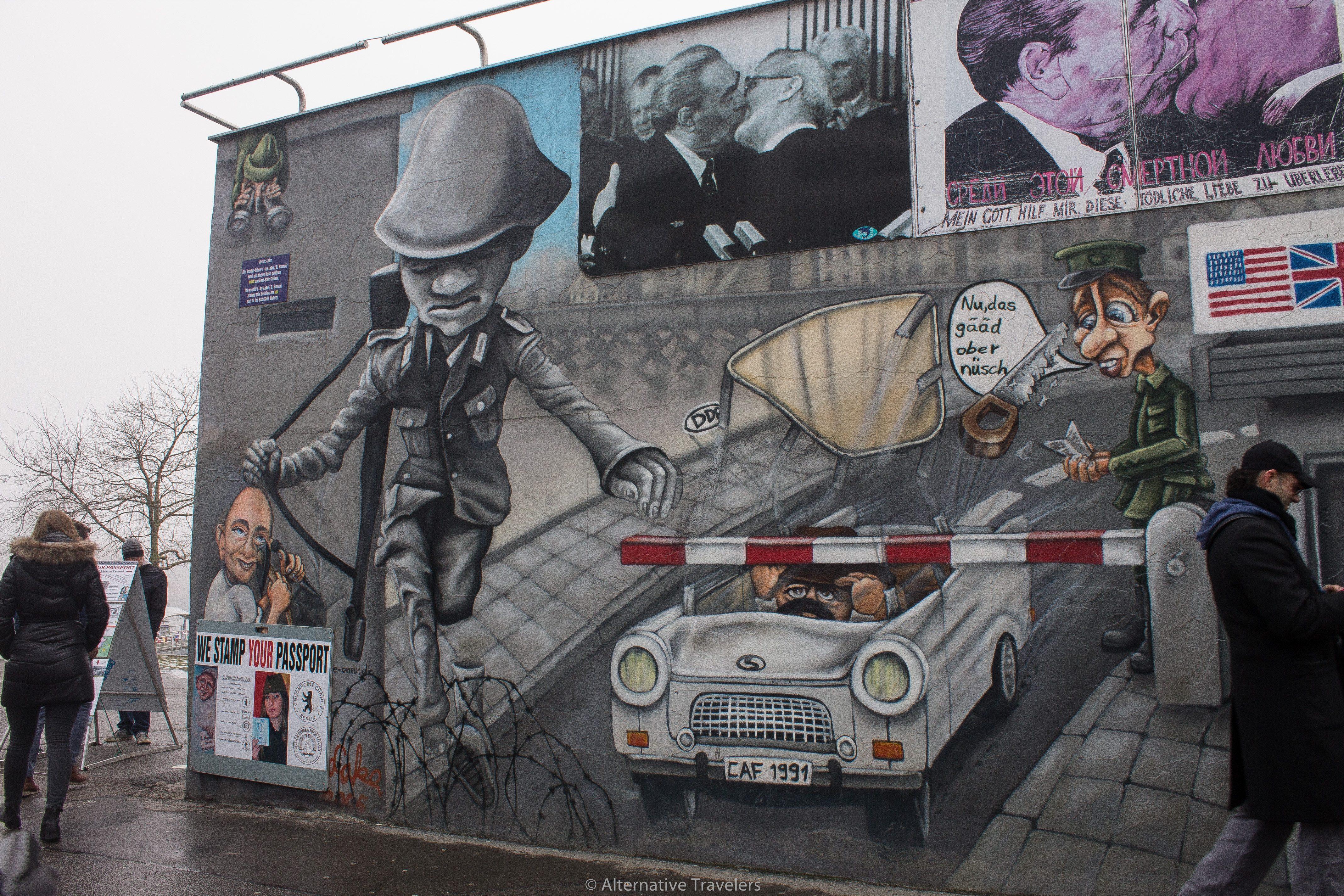 Checkpoint Charlie mural on the Berlin Wall | AlternativeTravelers.com