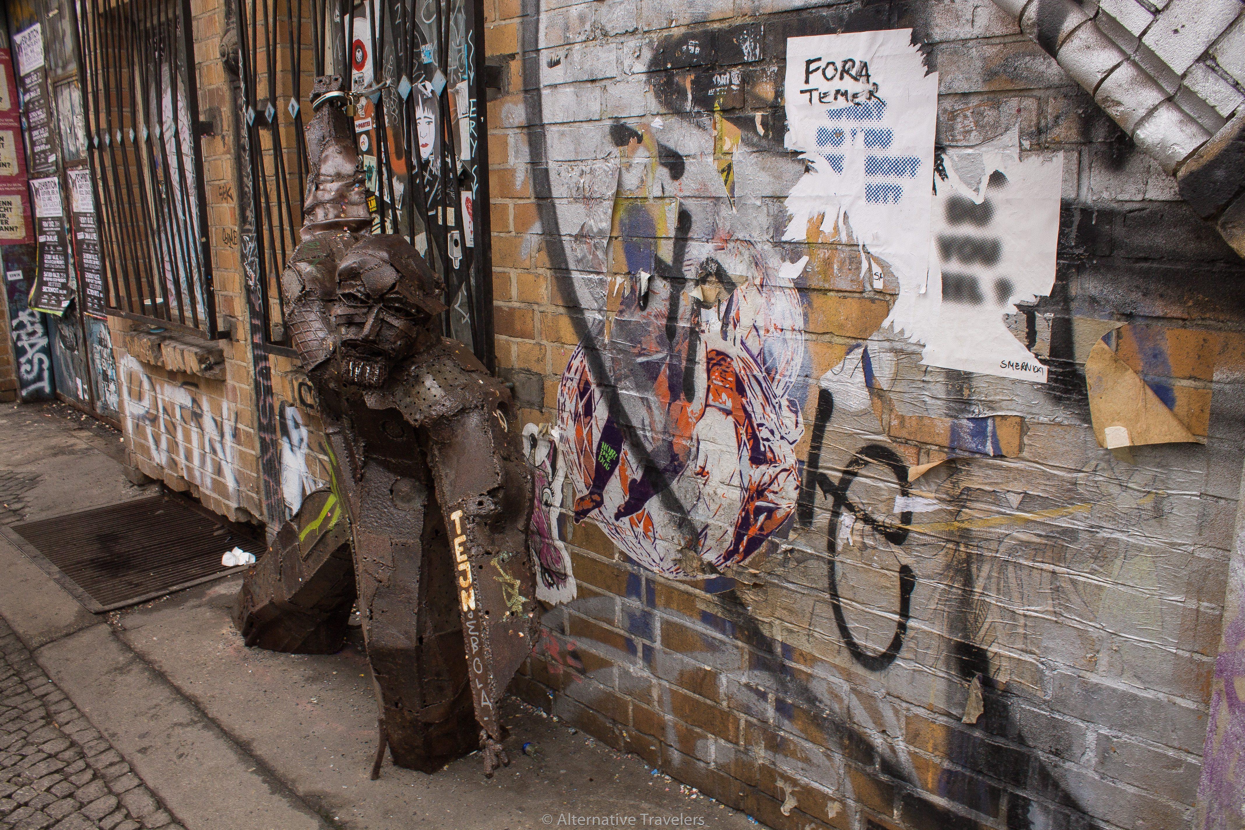 Tejn metal piece - Berlin street art | AlternativeTravelers.com