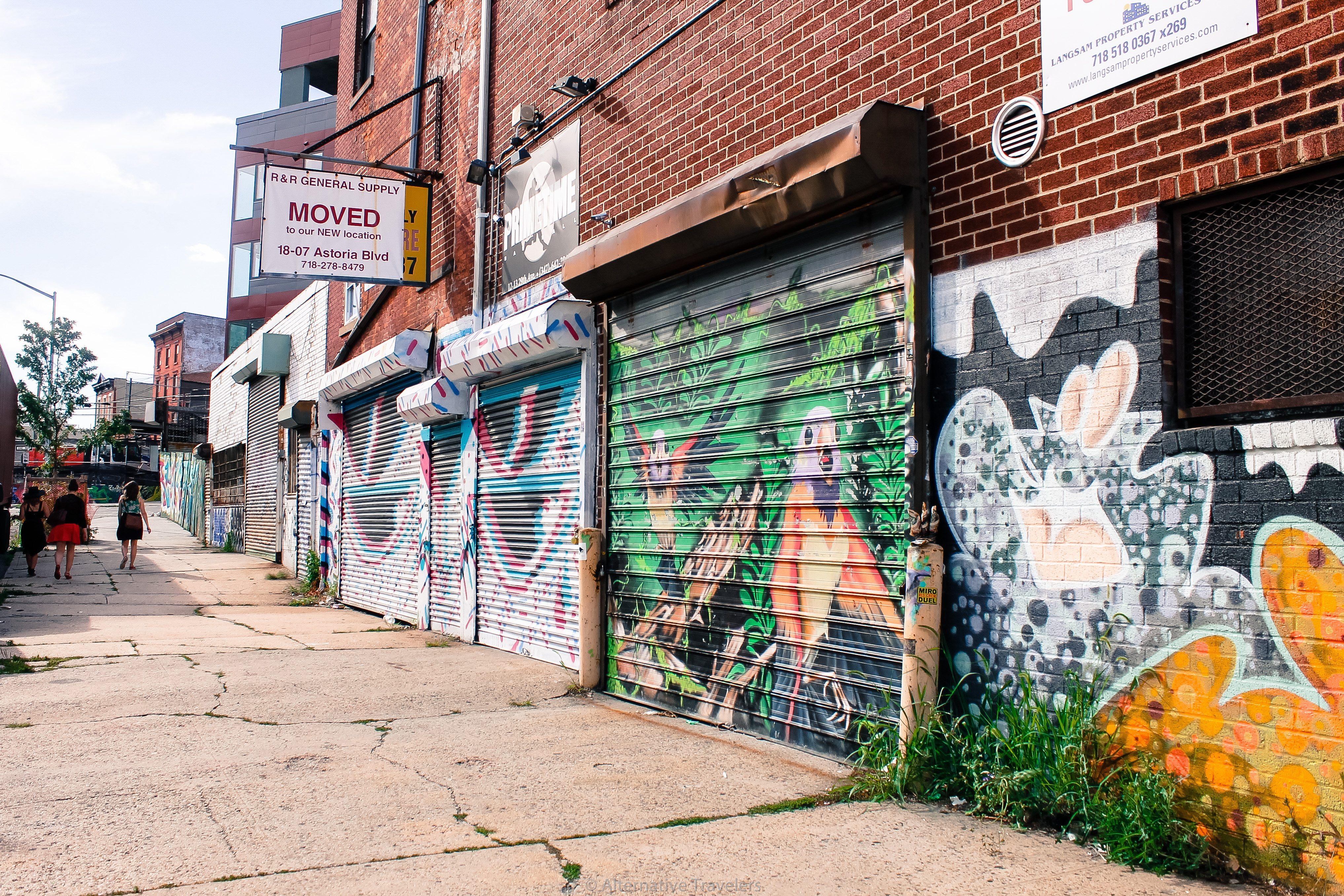 Street Art in Astoria, Queens - AlternativeTravelers.com