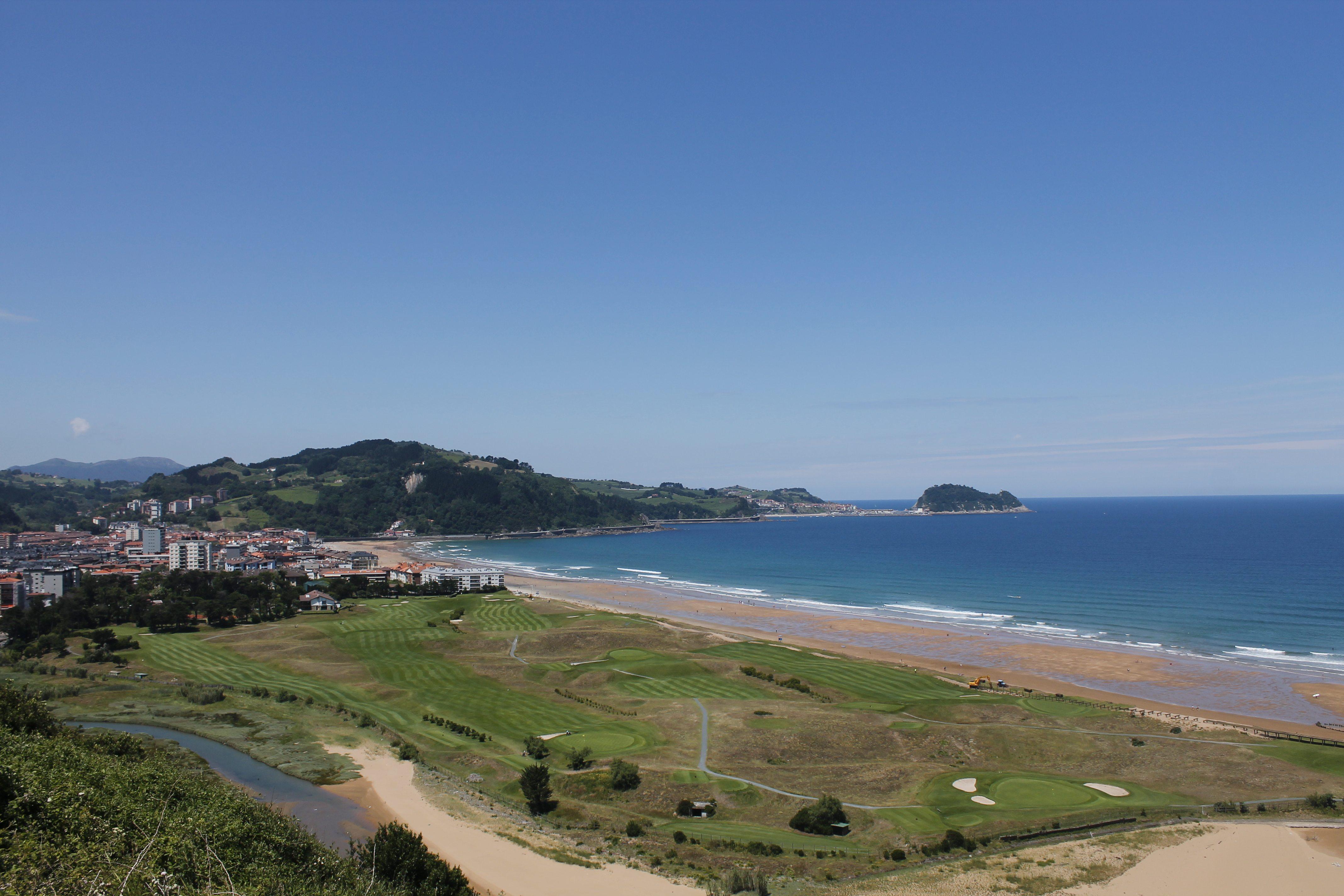 Zarautz Beach on the Camino de Norte