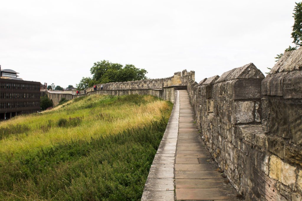 Walking along York's medieval walls, one of the free things to do in York