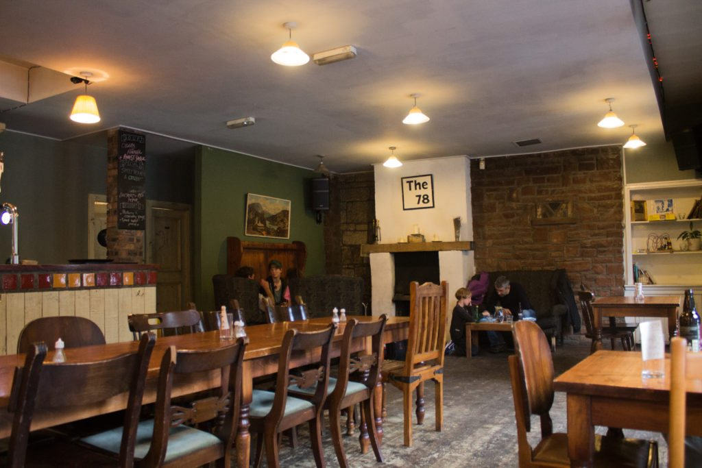 cozy interior space at The 78, a vegan pub in Glasgow