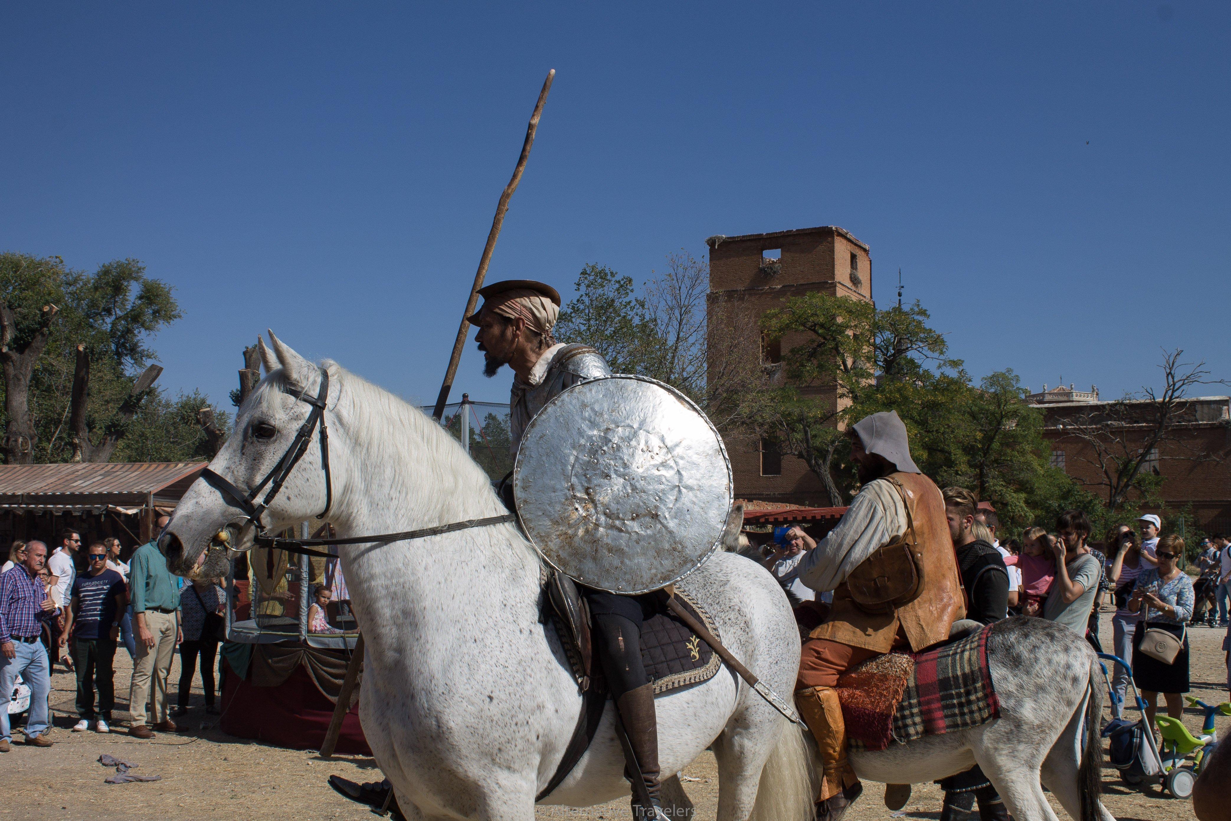 A reenactment of Don Quixote at the Cervantes Festival in Alcala de Henares, Spain.