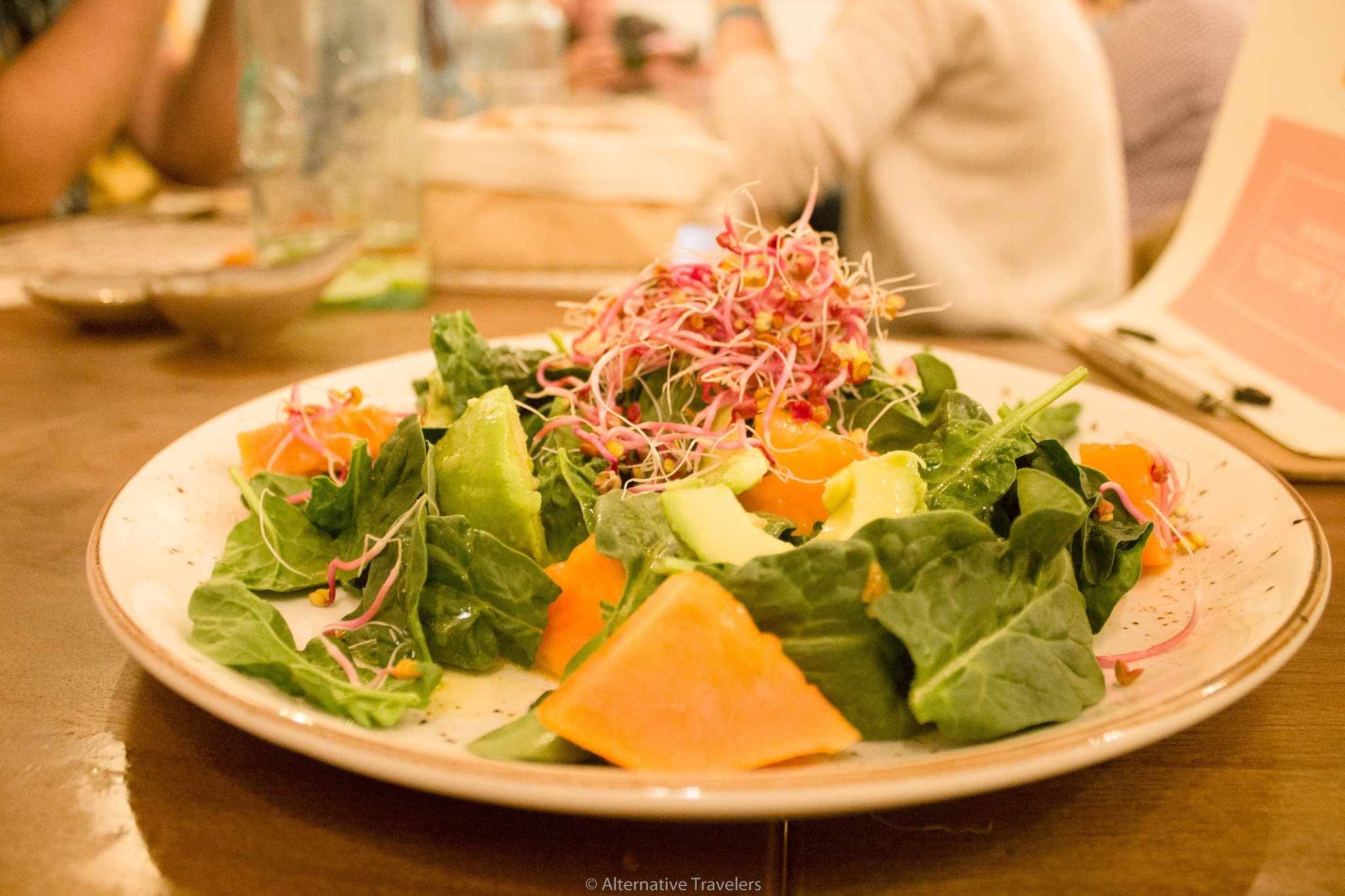 Papaya and Avocado salad at La Tia Carlota | AlternativeTravelers.com