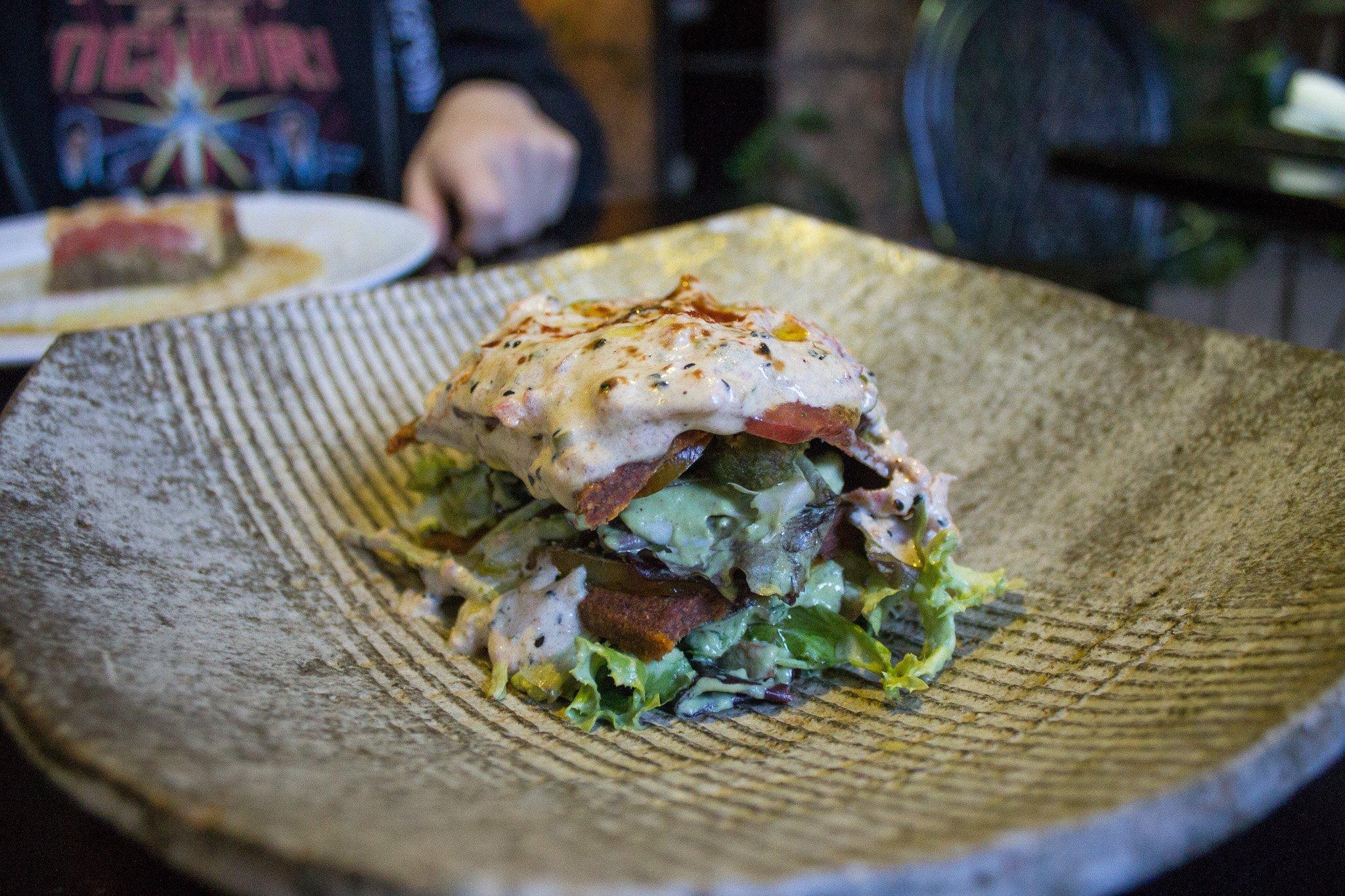 raw vegan lasagna at Crucina Madrid Spain