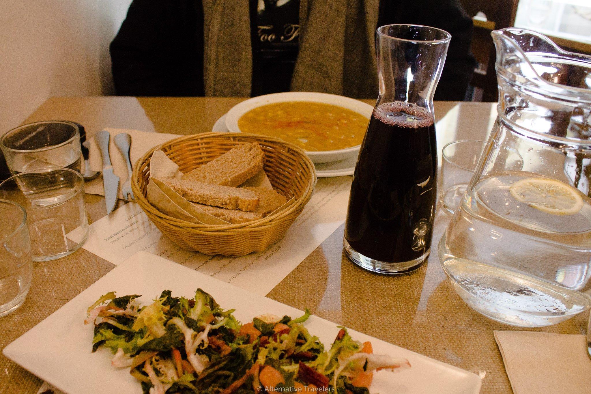 menu del dia at El Fogon Verde Madrid Spain